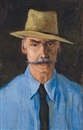 Walt Kuhn, Man With Hat and Moustache