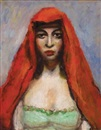 Walt Kuhn, Woman in Red Shawl