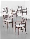 Guglielmo Ulrich, Dining chairs (from The Trieste series) (set of 6)