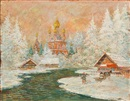 Konstantin Alexeievitch Korovin, A village in the snow
