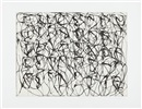 Brice Marden, Cold Mountain Series, Zen Studies 1-6: Plate 1
