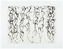 Brice Marden, Cold Mountain Series, Zen Studies 1-6: Plate 6