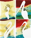 Julian Schnabel, View of Dawn in the Tropics suite: Four prints (4 works)