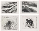 Miquel Barceló, Lanzarote series: Plates 11; 42; 44; and 46 (4 works)