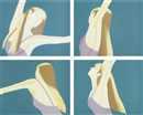 Alex Katz, Night: William Dunas Dance 1-4/Pamela (set of 4)