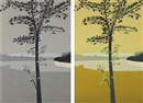 Alex Katz, Swamp Maple 1 and Swamp Maple 2 (2 works)