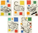 Donald Baechler, Fish and Wildlife series (set of 5)