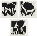 Donald Baechler, Flower Studies I-III (set of 3)