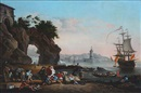 Anonymous (18), South European harbour scene with tired sailors