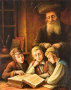 Boris Shapiro, Three young boys studying with a rabbi