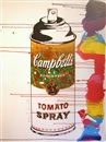 Mr. Brainwash, Gold tomato spray