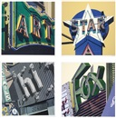 Robert Cottingham, American signs (portfolio of 12)