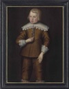 Anglo-Dutch School (17), Portrait of a boy, three-quarter-length, in a brown doublet and hose, with lace collar and cuffs