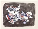 Jean Dubuffet, Lion heraldique (from fables)