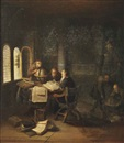 Jacob van Spreeuwen, Scholars in a study with books and globes