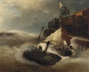 Andreas Achenbach, Bundling forces in rough seas