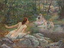 Paul François Quinsac, Nymphs in the forest