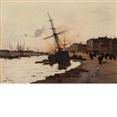 Eugène Galien-Laloue, Port at Dusk