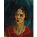 John Sloan, Brunette Head, Red Waist