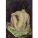 John Sloan, Model Seated on a Pale Green Pillow