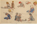 Edward Henry Potthast, Studies of Beach Figures