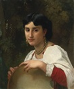 William Adolphe Bouguereau, Italienne au tambourin