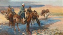 Edwin Lord Weeks, Horses at the Ford - Persia