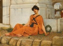 John William Godward, Repose, the flower girl