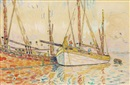 Paul Signac, Voiliers à Port-Louis