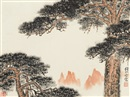 Qian Songyan, 映朝晖 (Morning sunlight)