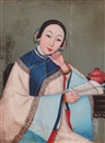 Anonymous-Chinese (Qing Dynasty), 仕女 (Portrait of a lady)