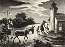 Thomas Hart Benton, Prayer Meeting (Wednesday Evening)