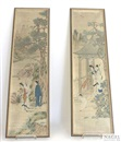 Anonymous-Chinese (Qing Dynasty), Malereifragmente mit figuralen Szenen (set of 4)