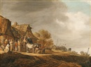 Jan Josefsz van Goyen, Halt in front of a tavern
