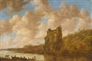 Jan Josefsz van Goyen, Mighty castle on a rock