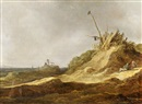 Attributed To Jan Josefsz van Goyen, The sand dunes