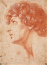 Anonymous-Italian (17), Head of a young man
