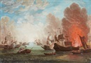 Anonymous-British (18), Two naval battle scenes (2 works)