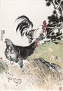 Xu Beihong, 全家福 (Roosters and chicks)