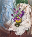 Boris Izrailovich Anisfeld, Still Life with Flowers