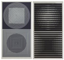 Victor Vasarely, Abstract Compositions (pair)