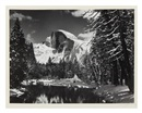 Ansel Adams, Half Dome, Merced River, Winter