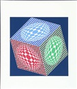 Victor Vasarely, Red / green / blue cube