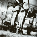 Helmut Newton, Two Pairs of Legs in Black Stockings, Paris