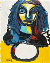 Karel Appel, Head of a Woman
