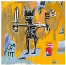 Jean-Michel Basquiat, Untitled (Julius Caesar on Gold)