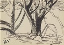 Keith Vaughan, Trees II (illustrated), Felled Trees I and Felled Trees II (3 works)