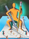 Mark Kostabi, Sharpen your wits (Billiards)