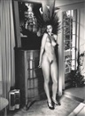 Helmut Newton, Domestic Nude V, in my living room, Château Marmont, Hollywood