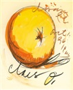 Claes Oldenburg, Poster Study for a One-Man Show at the Dawn Gallery- Donut